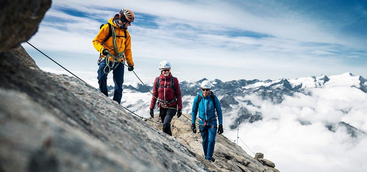 Steig zum Kitzsteinhorn Gipfel auf 3.203 m